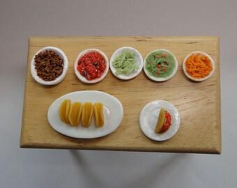 Dollhouse Miniature Taco Bar
