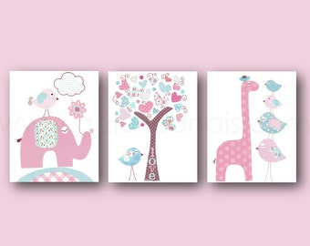 Nursery Art Baby Nursery Decor Canvas Prints Wall by ...