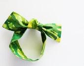 Golfers Head Scarf / Hair Accessory / Neck Scarf / Handbag Adornment / Green Scarf / Rockabilly Scarf / Gift Under 15