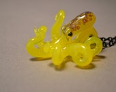 Yellow spotted octopus pendant