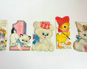Vintage Birthday Cards for Baby