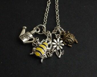 i love gardening necklace