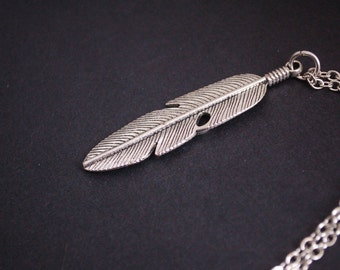 feather bird necklace