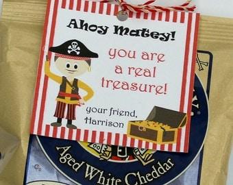Personalized Ahoy Matey Pirate Valentine