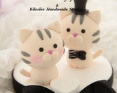 cat and  kitty Wedding Cake Topper---k802