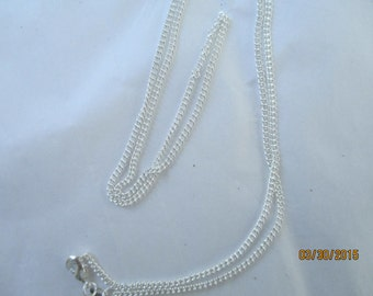 "925 Sterling Silver  16 "" Chain   3 Chains"