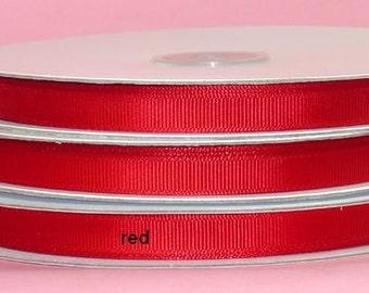 5/8 x 50 yds GROSGRAIN RIBBON - Red