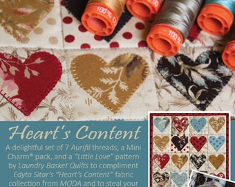 Aurifil HEART'S CONTENT thread collection
