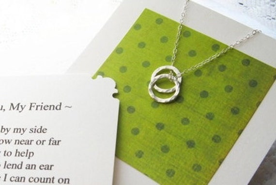 Poem Cards For Friends Best Friends Necklace Poem