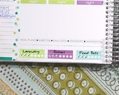 Weekly Routine Tracker Stickers Printable - Rainbow - Instant Download - to fit your Erin Condren Weekly Boxes