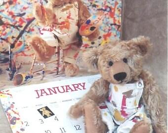"""12"""" Vintage Look Teddy Bear Pattern from BEARDEAUX BEARS by Linda Johnson"""