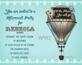 Hot Air Balloon - Retirement Invitations