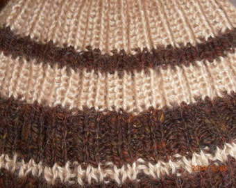 Hand knit mohair hat