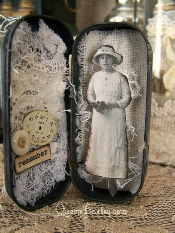 Altered Altoid Tin Assemblage Collage Altered Art Tin 3d