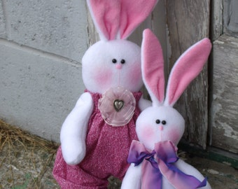 SPRING RABBIT DOLLS- easter bunny- spring-  animal