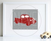 Ford Truck art print 8 x 10 transportation decoration - different colors and sizes available