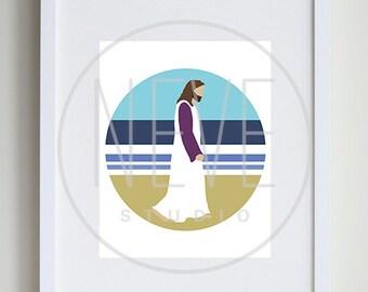 Jesus Christ Art Print, Christian artwork, LDS art, childrens room decor - 8 x 10