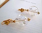 As You Wish 24k Gold Earrings -  BOHO Chic - Real Dandelion Flowers - Apothecary Earrings - Wish Earrings - Daughter of Earth