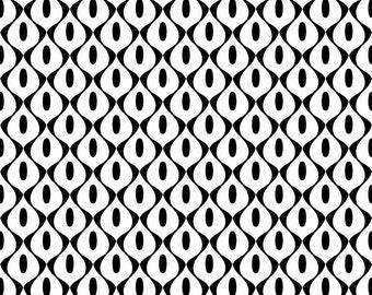 Riley Blake - Black & White Fabric - Wallpaper Print - Mod Studio by Holli Zollinger C3576