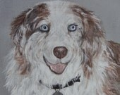 Custom Pet Portrait from your Photo on Canvas Panel