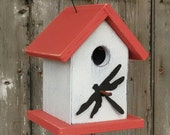Rustic Birdhouse Rusty Dragonfly Decorative and Functional