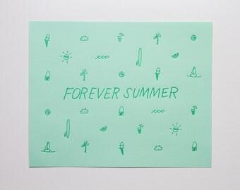 Forever Summer - Letterpress Print - P238