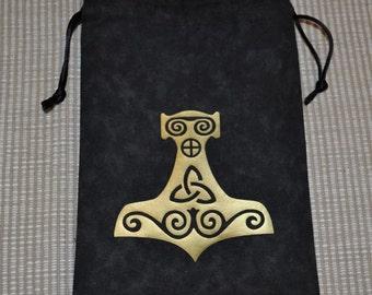 Viking mjolnir Thor's hammer tarot bag