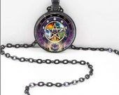 Pentacle Necklace, Pentacle Pendant, Wiccan Pagan Bohemian Gypsy Jewelry RW233