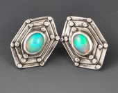Hexagon Stud Post Earrings