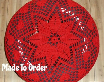 Red Hearts Crochet Spare Tire Cover