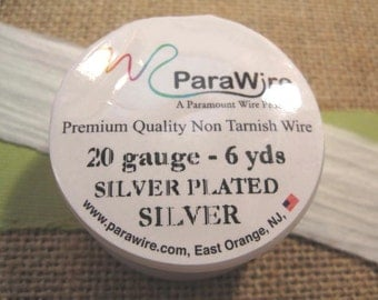 Silver Plated Silver - 20 Gauge Wire from ParaWire - 6 yard Spool