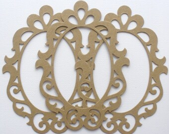 Scrollwork Elegant Picture Frames  - Chipboard Die Cuts - Bare Embellishments