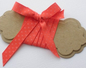 Ribbon Spools & Labels - Chipboard Die Cuts - Bare Tag Embellishments