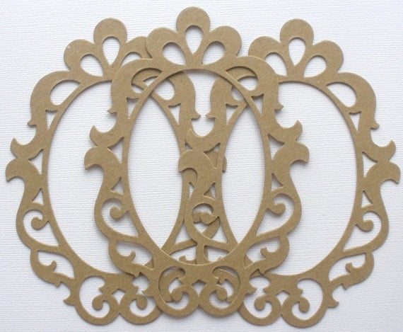 Chipboard Shapes Ideas ~ Scrollwork elegant picture frames chipboard die cuts bare