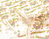 Sanrio fabric my melody half meter or 50 cm by 106 cm or 19.6 by 42 inches