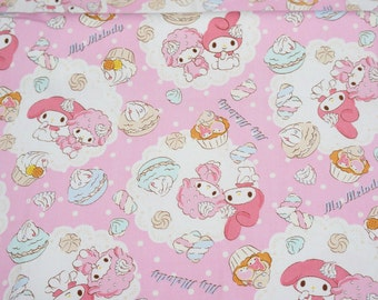 Sanrio fabric my melody and sweets