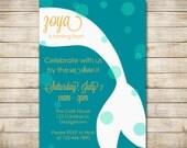 PRINTABLE / DIY Teal Mermaid Birthday Invitation by flamingodesigns