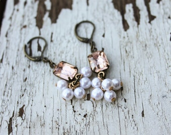 Blush - Vintage Style Earrings