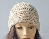Cloche Crochet Pattern, Instant Download, Easy  Knit Look Brim Hat PDF  Pattern