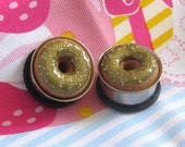 "3/4"" Donut Eyelets - Metallic Gold Doughnut Plugs - SALE"