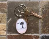 Carolina Girl - chunky glass key chain