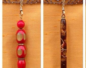 Vintage Mid Century Mechanical Pencil Pendants, Multiple Styles (Listing for one (1) pendant)