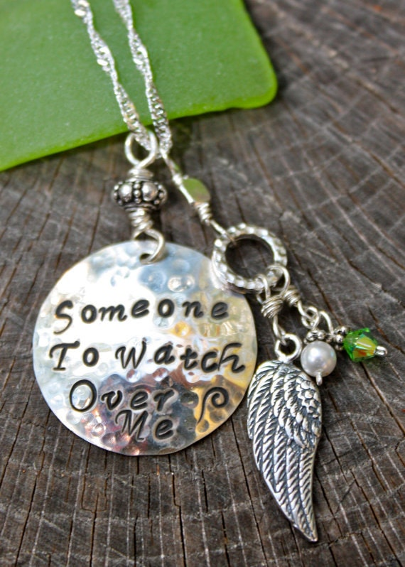 memorial necklace someone to me charm sterling