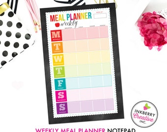 Weekly Meal Plan Notepad - 2 Sizes Available
