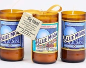 Blue Moon Beer Candle Brown Bottle Belgian White Gift for Beer Lover Belgian Style Wheat Ale Spirits Brew Hops Malt Suds Brewski Chill