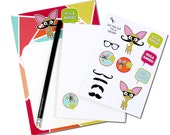 Chihuahua Writing Set With Envelopes & Stickers, Stationery Set