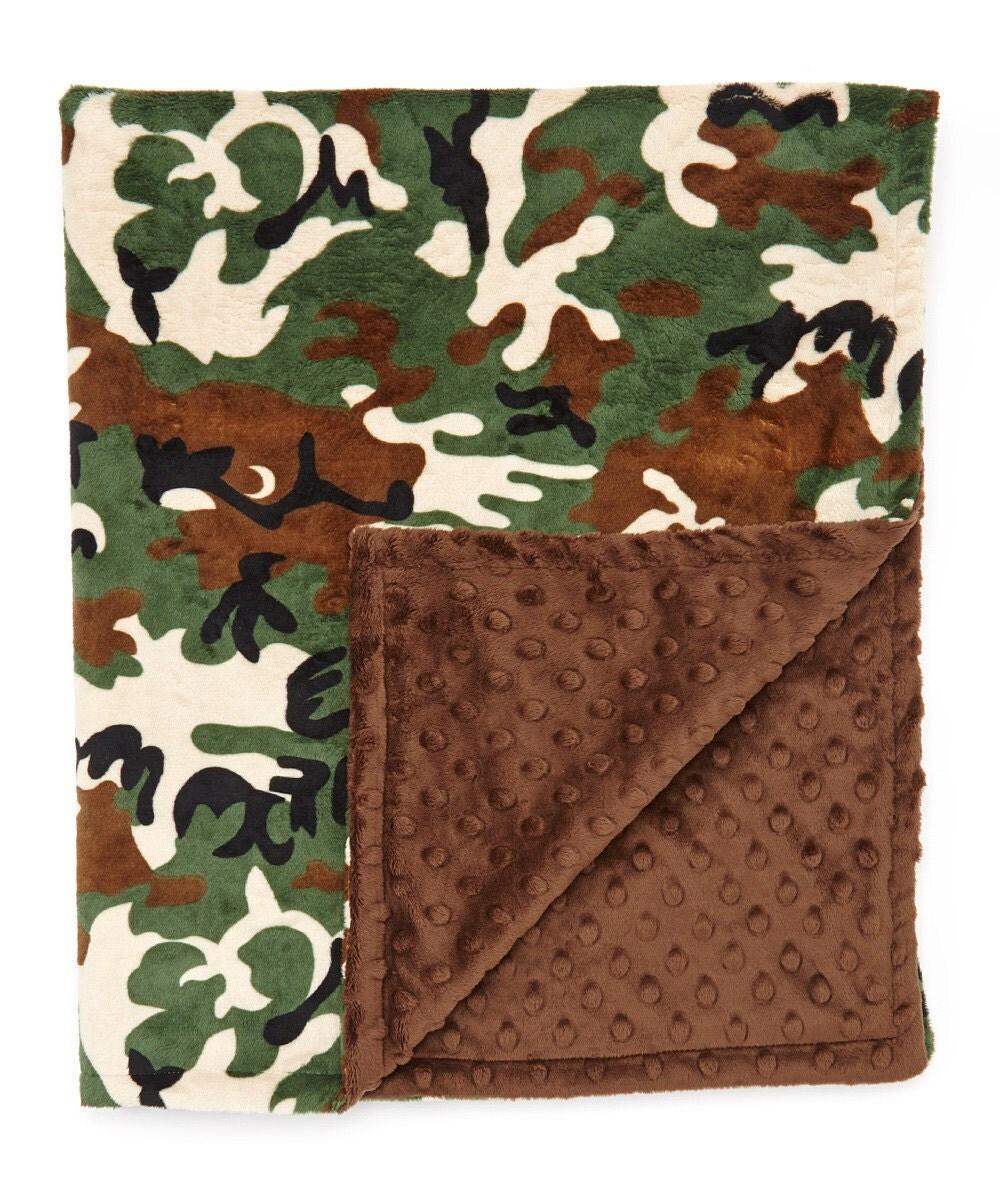 Baby Boy Blanket Boy Receiving Blanket Hunter Blanket Minky