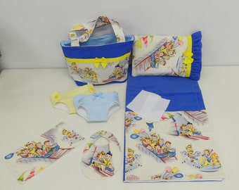 Carnival Ride -  Diaper Bag and Diapers with Blanket for Bitty Baby