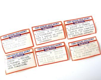 7 Vintage Prescription Labels Ephemera