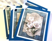 8 Tags, Thank You, Gift, Party Favor, Note, Merchandise, White Tulips Floral